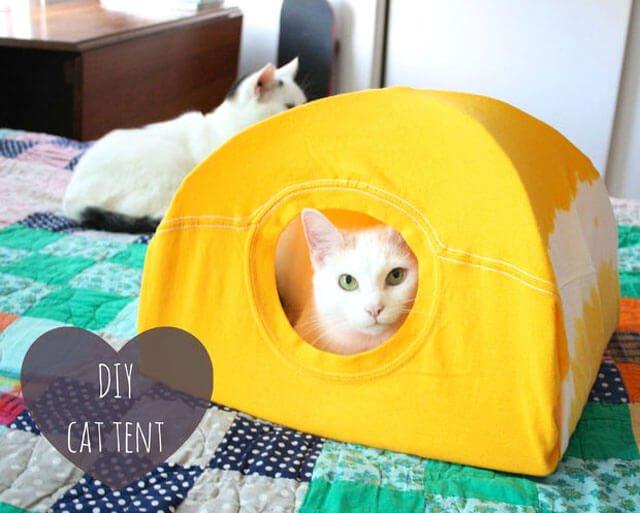 DIY : เต๊นท์แมวเหมียว 13 - Tent