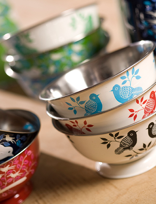 Eva Hand Painted Tiffin 13 - Containers