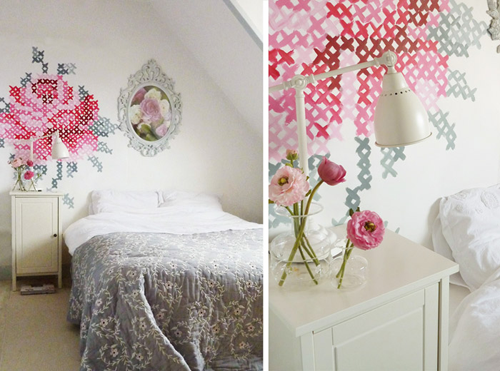 DIY: Wallpaper Еmbroidery ♥