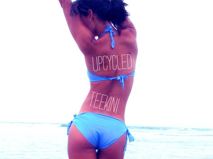 Teekini บิกีนี่ทำเองจากเสื้อยืดตัวเก่า 13 - bikini