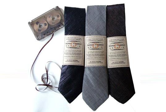 Sonic Fabric..ผ้าที่ถักทอจากเทปคาสเซ็ท 2 - cassette-tape