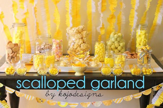 D.I.Y.Scalloped Garland สายรุ้งสำหรับปาร์ตี้ ทำเองได้ง่ายจัง