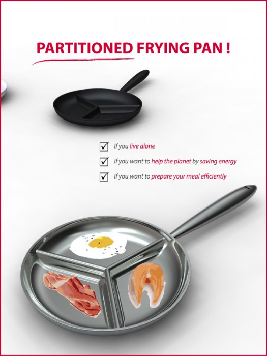 Partitioned Frying Pan
