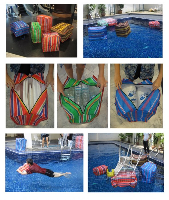 Floating pouches สร้างเรือจากกระเป๋าลอยน้ำแบบไทยๆ 13 - floating
