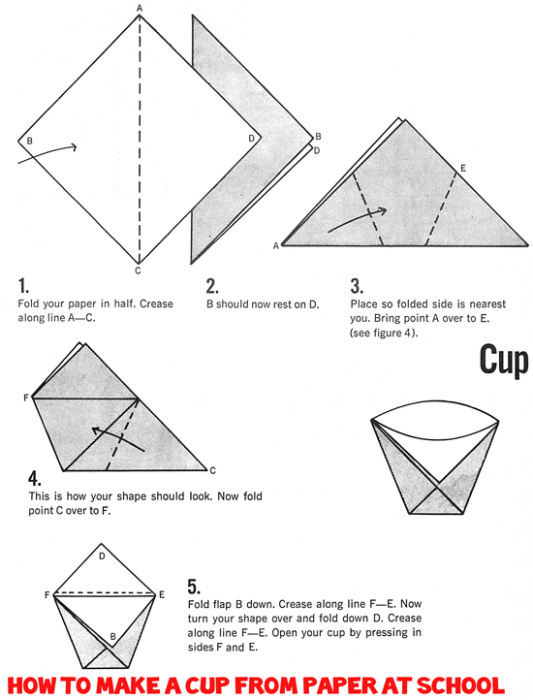 Origami Pencil Cup Instructions