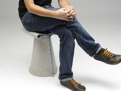 Stitching Concrete  Chair  2 - canvas