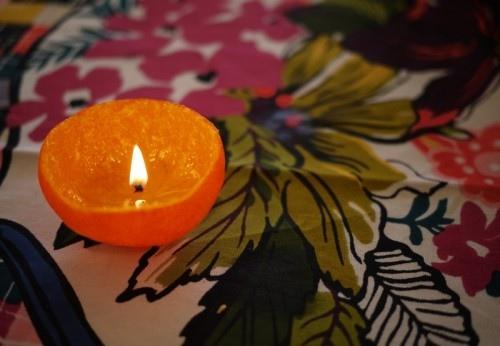 แสงไฟโรแแมนติก..จากเปลือกส้ม 2 -