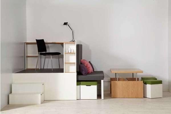 ตกแต่งห้องพื้นที่เล็ก..Compact Multi-Room Moveables