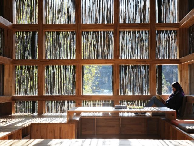 LiYuan Library ห้องสมุดเล็กๆท่ามกลางป่าเขา 2 -