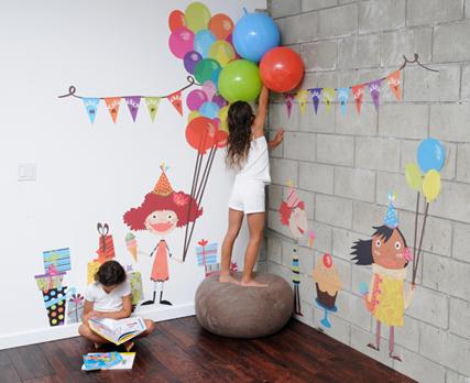 เปิดตัว Wall stickers,Pop&Lolli by Moms,Munchkins and Monsters 2 - eco-friendly