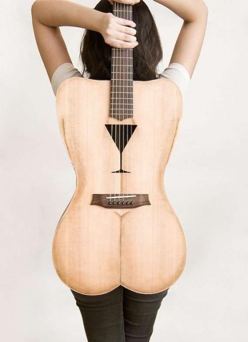 Female Form 6 String Acoustic Guitar กีต้าร์โปร่งแนวๆ นู้ด..แต่อาร์ต 2 - Celentano Woodworks