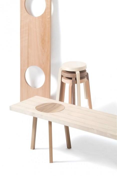 เก้าอี้สตูว์ + ม้านั่ง ในชิ้นเดียว เรียบง่ายแนว Minimalist 13 - Bench