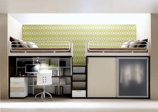 เฟอร์นิเจอร์ สำหรับพื้นที่จำกัด..เตียง+ตู้+โต๊ะทำงาน ในชิ้นเดียว