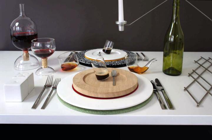 Colourware ชุดจาน-ชาม ประติมากรรมบนโต๊ะอาหาร