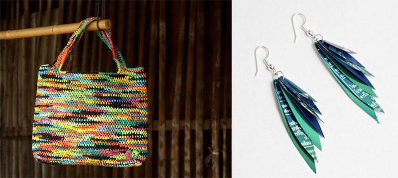 """""""ไทส่อง"""" กระเป๋าถือผลิตจากพลาสติก 2 - thaisongfairtrade"""