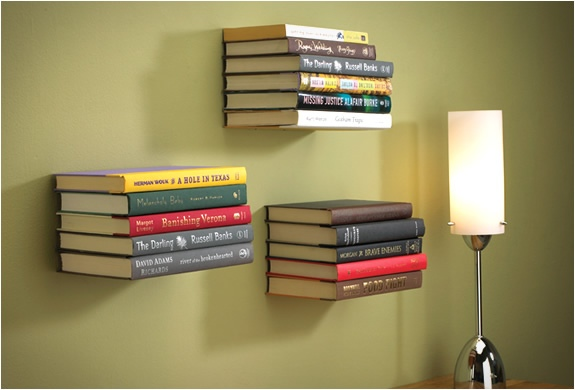 ชั้นหนังสือล่องหน...invisible shelf 13 - Book shelf