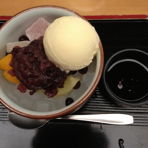 Japanese styly ice cream and jelly at Funawa