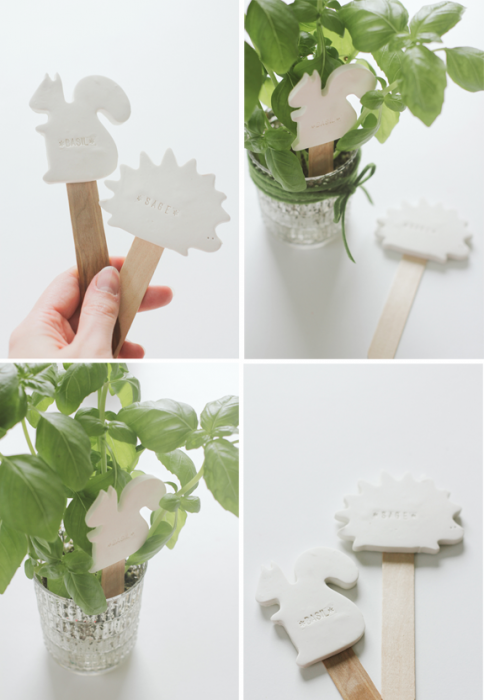 DIY:CLAY PLANT LABELS