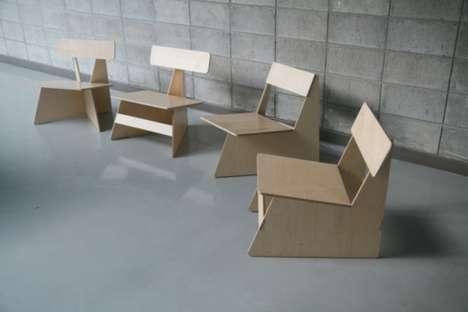 Four Brothers..เก้าอี้ 4 พี่น้อง...เก้าอี้ที่เป็นมิตรกับสิ่งแวดล้อม 2 - eco-friendly chair