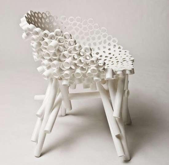 เก้าอี้จากท่อ PVC รีไซเคิล 2 - PVC