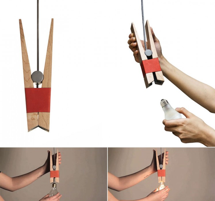 Clothespin Light Bulb ไม้หนีบหลอดไฟ 2 -