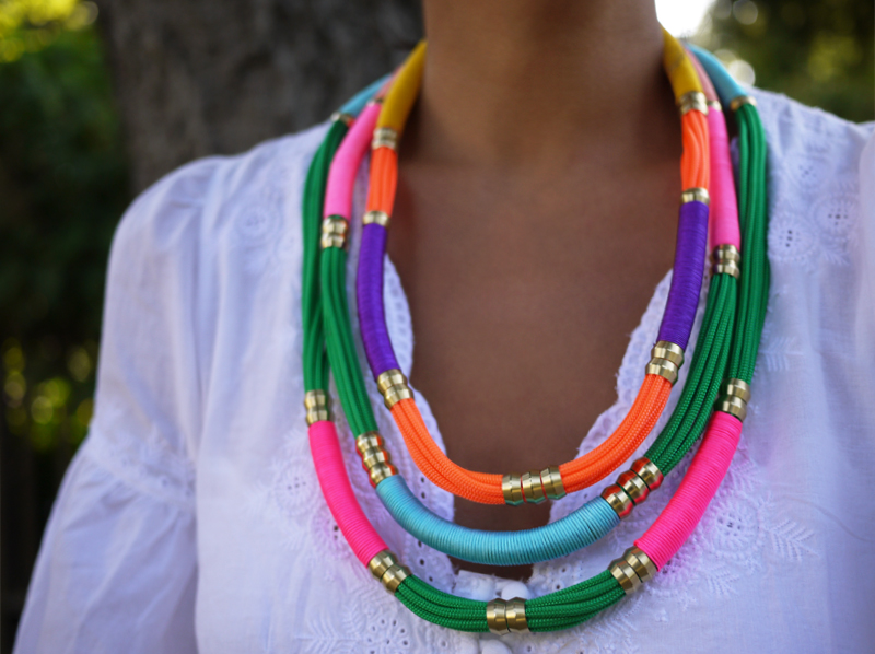 DIY.Rope Necklace ของขวัญให้คุณแม่ 2 - DIY