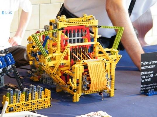 เครื่องทอผ้าจาก Lego 2 - education toy