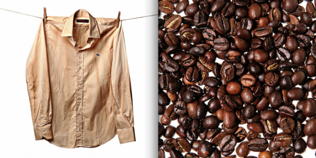 "DIY Part 2: Shirt Dipped in Coffee เปลี่ยนเสื้อตัวเก่าสีขาว เป็นเสื้อตัวใหม่สีน้ำตาลคลาสสิก ด้วย ""เมล็ดกาแฟ"" 2 - Coffee"