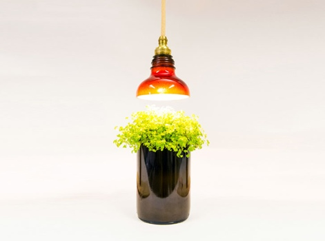 โคมไฟจากขวดแก้วใช้แล้ว 2 - Art & Design