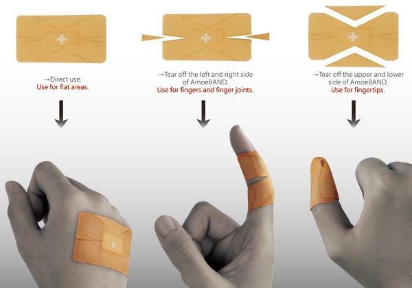 AmoeBand พลาสเตอร์ติดแผลตามเฉดสีผิว และ พลาสเตอร์ที่สามารถเปลี่ยนรูปร่างตามสิ่งแวดล้อม 2 -