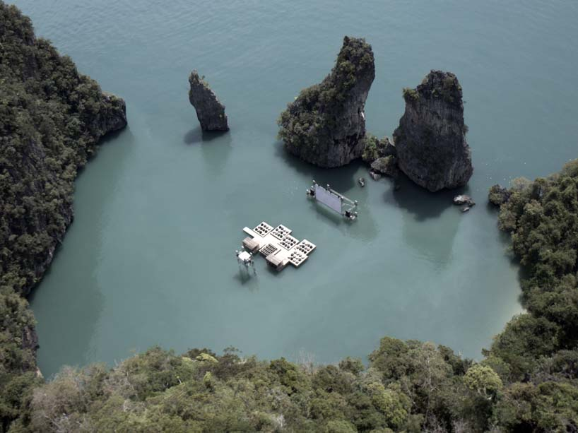 Floating cinema โรงหนังลอยน้ำที่เกาะยาวน้อย 2 - cinema