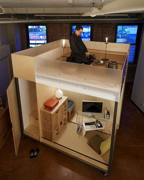 Mobile cube...ชุดพักอาศัยเคลื่อนที่ขนาดเล็กแนวคิดแบบเซ็น 2 -