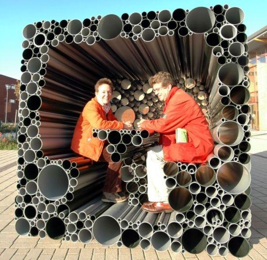 ที่นั่ง..ที่เล่นจากท่อพีวีซี 13 - interactive pavillion