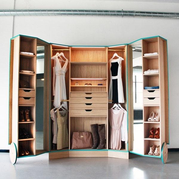 ตู้เสื้อผ้าผสม Walk In Closet  เปิดปิดได้ ประหยัดพื้นที่ 13 - walk in closet