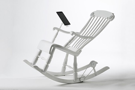 IRock..เก้าอี้โยกสร้างพลังงานยั่งยืนชาร์ต iPhone, iPad 13 - iRock