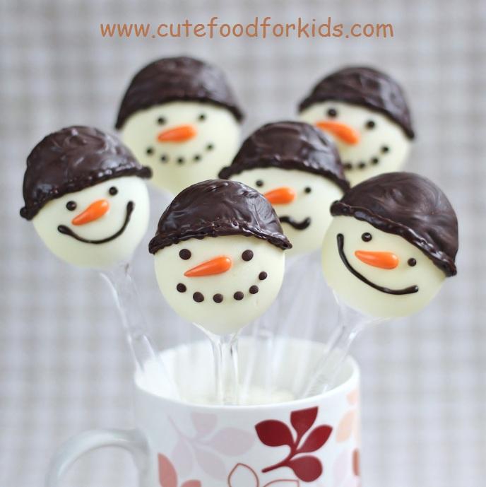 DIY.Chocolate Snowmen For Kids 13 - Chocolate