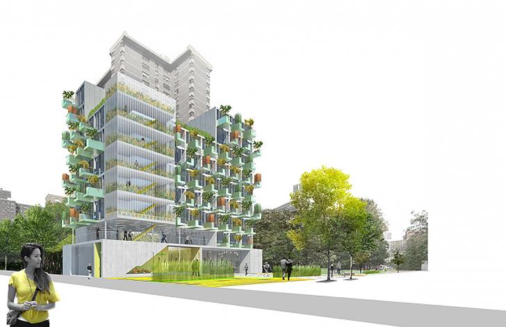 MicroGreens! อพาร์ตเม้นต์ขนาดเล็กที่ทุกยูนิตมีสวนผักบนระเบียง ในนิวยอร์ค 13 - micro apartment