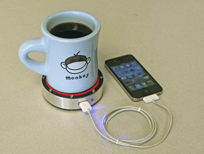 ชาร์ตมือถือจาก จานรองถ้วยกาแฟ !!! 13 - Epiphany One Puck charger