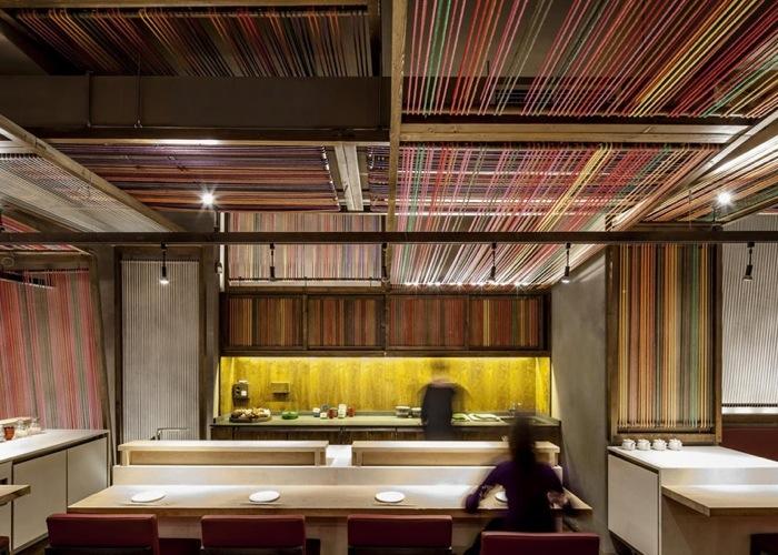 Peru Pakta  ร้านอาหารที่รวม 2 วัฒนธรรมเข้าเป็น 1..เมื่อหูกทอผ้าดั้งเดิมของเปรูหุ้มห่อเฟอร์นิเจอร์สไตล์ญี่ปุ่น 13 -