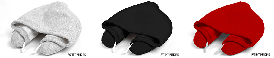 โลกส่วนตัวได้ทุกที่กับ Hooded Travel Pillow  2 - black