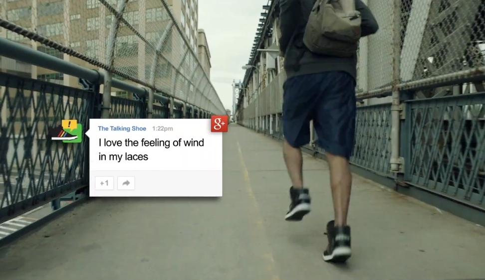 Google + Adidas = Talking Shoes