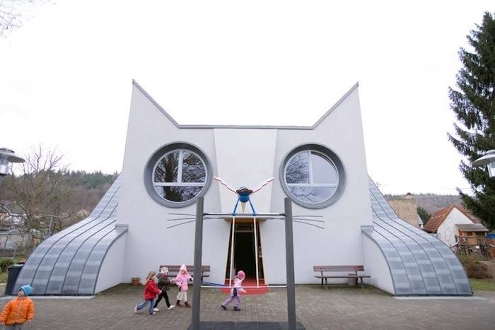 โรงเรียนอนุบาลรูปแมวยักษ์ ในประเทศเยอรมัน 2 - Kindergarten