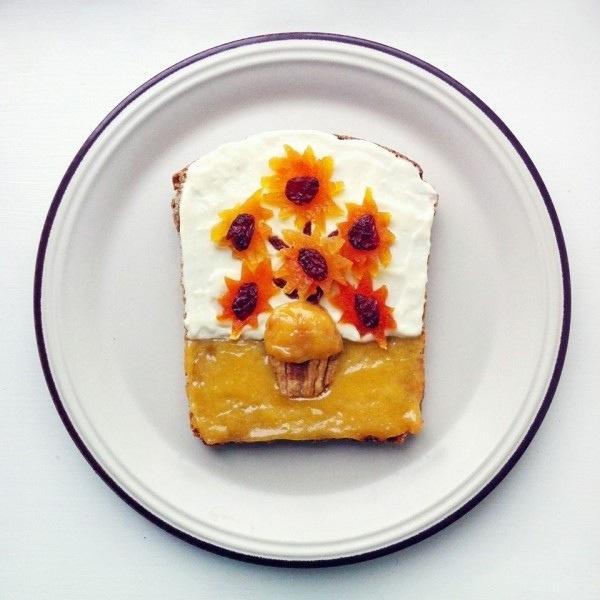 เลียนแบบภาพศิลปินดังบนขนมปัง..The Art Toast Project 13 - Art toast