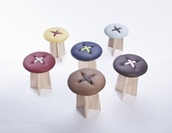 Button..เก้าอี้รูปกระดุม .. เรียบง่าย และน่ารัก ทำมือทั้งชิ้น 13 - stool