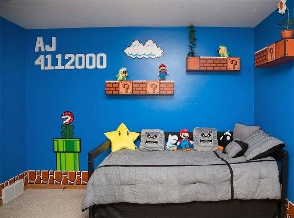 ตกแต่งห้องเด็ก... เลียนแบบฉากในเกม..Super Mario 13 - Super mario