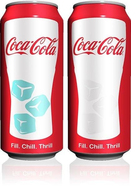 กระป๋อง Coca-Cola ที่เปลี่ยนสีได้ เมื่อเย็นได้ที่ 13 -