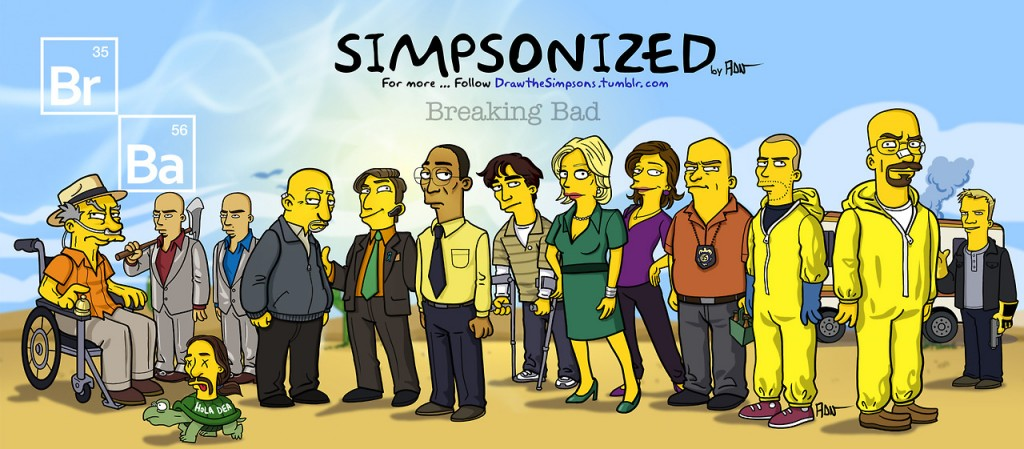 Breaking bad characters illustrated like the simpsons 2 - Breaking bad