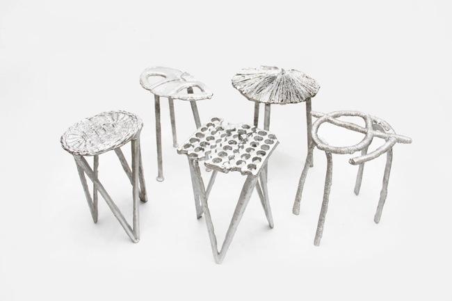 เก้าอี้จากขยะ..ผลิตจากกระป๋องน้ำอัดลม ใช้เชื้อเพลิงจากน้ำมันพืชใช้แล้ว แม่พิมพ์จากกองทรายข้างถนน 13 - eco-friendly