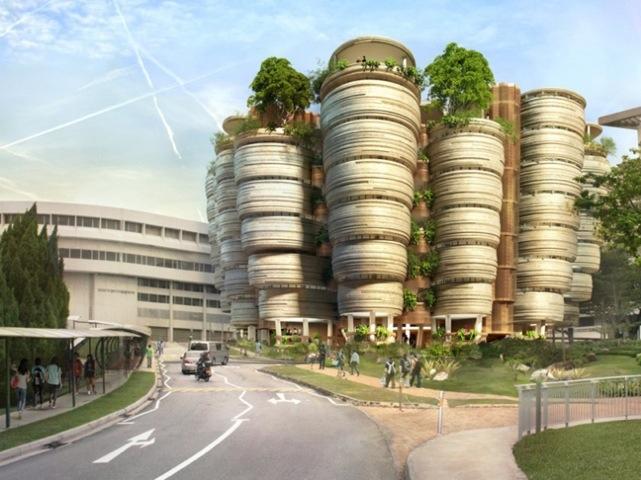 อาคารเรียนที่เน้นให้เกิดกิจกรรมทางสังคม ..ได้แรงบันดาลใจจากรังผึ้ง 13 - Nanyang Technological University