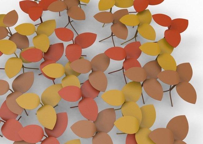 โต๊ะที่ได้แรงบันดาลใจจากกิ่งไม้ ใบไม้..ในฤดูใบไม้ร่วง